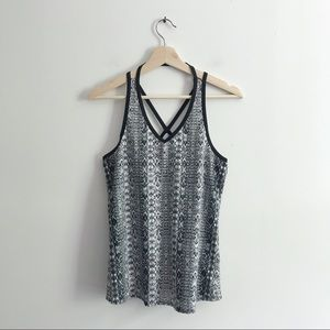 Athleta limitless strappy active patterned tank